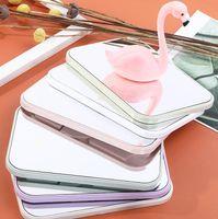 6colors зеркало для макияжа Портативный складной карманный Зеркала моды Таблица Dresser Наполните свет Зеркало Косметическое площади принцессы Зеркала GGA3131-2