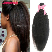 Glamorous Malaysian Kinky Hastes Extensão de cabelo 3 Pacotes 100% Human Human Heat Head Mongolian Cambojano Brasileiro Remy Hair Weave