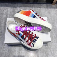 high end women girls SNEAKER IN OBLIQUE EMBROIDERED CANVAS f...