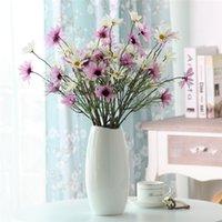 Falso artificial Dasiy flores de seda flores Estambre decorativo pequeña margarita para la boda que sostienen las flores la decoración del hogar YSY97Q