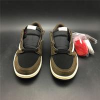 2019 com caixa Mens tênis de basquete Sneakers para homens sapatos marrons Baixa CQ4277-001 US7.5-13