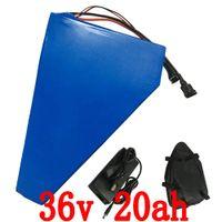 높은 품질 1000W 전원 36v 20ah 전기 자전거 리튬 이온 배터리 팩 배터리 가방, 30A BMS, 42V 2A 충전기 무료 배송