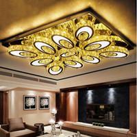 Moderne Minimalismus Hohe Helligkeit LED Rechteckige Kristall Deckenleuchten Wohnzimmer Beleuchtung Birne Restaurant Lampe Kronleuchter