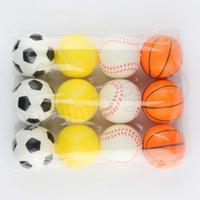Mascota Perro Esponja bolas 6.3cm suave espuma de poliuretano bola Desempaquetar el juguete de la novedad mascota juguetes para niños T2G5033