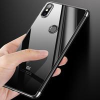 3 en 1 étui de placage galvanoplastie doré souple TPU couvercle transparent pour Xiaomi 9 Explorer SE 8 Lite 6X Mix Max 3 Note 3 F1 Play CC9E Anti-Knock