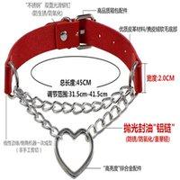 Pour les dames femmes rose collier collier chaîne en forme de coeur mode Harajuku cuir amour collier clavicule chaîne de cou
