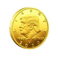 2020 Donald J. Trump commemorativa America del 45 ° Presidente della novità della moneta Keep America Grande Comandante in capo oro moneta di sfida