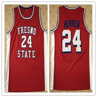 c4bf28b26a86 New Arrival.  24 Chris Herren Fresno State College high quality Men s  Embroidery Stitched Basketball Jersey Custom any name and number