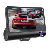 4 بوصة كاميرا سيارة DVR القيادة مسجل فيديو 3CH اندفاعة كام أمام 170 درجة 140 درجة العمق الداخلية 120 درجة FHD 1080P G-استشعار للرؤية الليلية