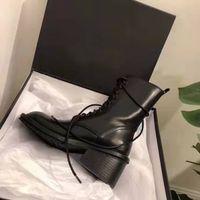 Kadın Siyah Deri İtalya Ann Yeni Sürüm Demeulemeester Lace Up Ankle Boots Gotik Gerçek Deri Orijinal Fabrika Ayakkabı Çizme