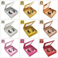 3D 밍크 속눈썹 아이 가짜 밍크 뜨개질 소프트 자연 두꺼운 거짓 속눈썹 광장 포장 아이 래쉬 확장 뷰티 도구 GGA2472