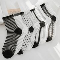 2019 Fashion Spring Summer Women' s Socks Cotton Dots St...