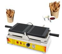 Makine Waffle Cips makinesi LLFA Yapımı Cips Pop Waffle makinesi Yeni Popüler Alman Sokak Gıda Ekipmanları Waffle Çubuk