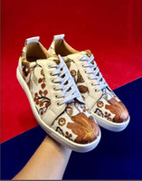 Hot Sale- red bottoms shoes low Cut summer men and women wild trend couple models set foot fashion sequins rivet tide shoes