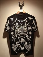 여름 Mens T 셔츠 2019 새로운 패션 T 셔츠 Mens 의류 악마 별 눈 반팔 캐주얼 Mens Top Tee Shirt