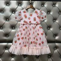 Fahion Designer Kinder Mädchen Kleid Baby Mädchen Kleider Paillette Strawberry Infant Prinzessin Party Kleid Kostüm 2020 Kinder Kleidung