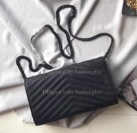 جلد طبيعي حقيبة يد المرأة حقيبة عالية الجودة الأصلي مربع رسول الكتف محفظة سلسلة مع حامل البطاقة فتحة فتحة