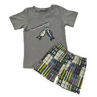 Bordado Kids Designer Ropa para niños Summer Summer Trajes de niño Bebé Ropa Set Leche Seda de manga corta Juego de manga corta Conjunto de trajes Boutique