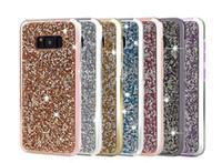 Prime bling 2 en 1 Diamant de luxe strass paillettes Téléphone cas pour l'iPhone 11promax XR XS MAX X 8 7 6 Samsung Note 9