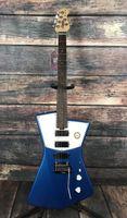 Sterling by Music Man STV60 ST. Vincent Phlham Blue Electric Guitar Belel Top, 3 mini Pastillas de Humbucker, Puente Tremolo