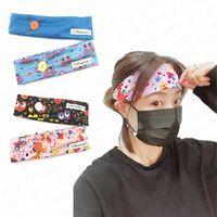 نساء كرتون قناع الوجه ربطة الرأس مع زر للأذن الواقية للبالغين صالة الألعاب الرياضية ربطات الشعر المطاطية ملحقات الشعر DHL E4912