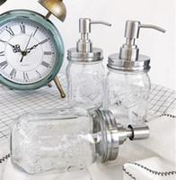 Sapone dell'erogatore della pompa in acciaio inox Mason Jar controsoffitto di sapone liquido Sapone Supplies Bottiglia 16OZ CYL-YW3923