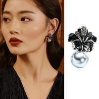 الكورية نمط أزياء كليب على أقراط مع مجوهرات لا هول للنساء عصري تصميم زهرة الزفاف زينة الزفاف أفضل هدية
