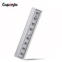 8 Led Gece Işık Bar Hareket Sensörü Işık Dolap Dolap Altı Işık Pil Kablosuz Dolap Lambası İçin Merdiven Bed İşletilen