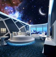 Özel herhangi bir boyut fotoğraf Rüya yıldızlı ay 3d tavanlar 3d tavan ay resimleri duvar kağıdı