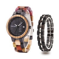 BOBO BIRD reloj hombre Wooden Bracelet Nature Wood Men Watch...