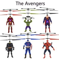 Spiderman Iron Captain America RC Hélicoptère Infrarouge Induction Enfants Figurines Flying Quadcopter Drone Enfants Jouets