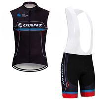 2019 verano gigante ciclismo jersey bicicleta sin mangas camisa babero st shorts set racing sportswear rápido seco hombres MTB Ropa de bicicleta K053103