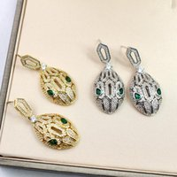 3 Colors Luxury Brand Jewelry Women Snake Earrings AAA Cubic...