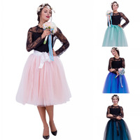 2020 Дешевые женщины TUTU юбки Vinatge Layers Tulle Knee Lengtweddding Платья Petticat Nownkirts Real Pictures BrideMaid рубашка носить CPA837