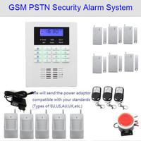 Özelleştirilmiş Güvenlik alarm sistemi, 6 kapı ile GSM PSTN ev alarm sistemi, 5 PIR sensörü, yüksek hacimli siren, iyi hırsızlık güvenlik alarmı