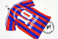 무료 배송 1995 96 97 홈 헬멧 # 5 Klinsmann # 18 Matthaus # 10 Scholl # 7 Rizzitelli # 20 뭉크 # 3 축구 유니폼 옛 축구 셔츠