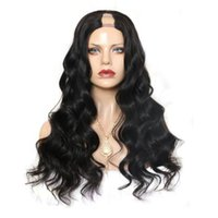 Perulu Vücut Dalga U Parça İnsan Saç Peruk Orta Sol Sağ U Bölüm Bakire Saç Peruk İçin Siyah Kadınlar Doğal Renk 8-26 inç