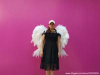 ailes artisanat blanc plume d'autruche pure ANGEL plume blanche de haute qualité Prise de vue créative props belle décoration de bricolage pour Halloween
