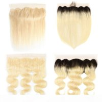 613 Blonde 13*4 Lace Frontal 1B 613 Ombre Blonde Brazilian H...