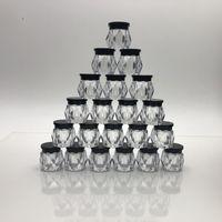 5 grammi 5ml ricarica vuota mini diamante sagomato plastica plastica contenitore cosmetico vaso con vaso con vite nera tappo trucco bottiglia crema per la crema