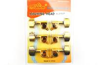 Alice d'oro chitarra elettrica acustica spine di sintonia sintonizzatori testa della macchina 3L + 3R commerci all'ingrosso Trasporto libero