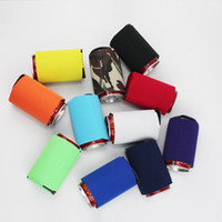Solid Color Neoprene Foldable Stubby Holders Beer Cooler Bag...