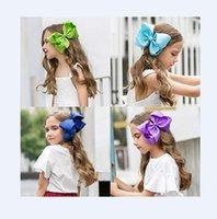 """10pcs / multi-color de 8"""" hecho a mano del pelo del Grosgrain de la cinta del arco Pinzas de cocodrilo accesorios del pelo para las niñas"""