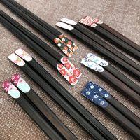 Japon tarzı Doğal Ahşap Çubuklarını Kiraz Çiçek Ev Restoran Çocuk Pirzola Sushi Sticks Çocuklar için En İyi Hediye