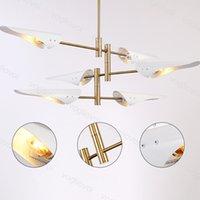 Lampes de pendentif modernes 110v / 220V corps blanc chaud blanc E14 pour salle à manger en bois suspendu lamblinaires suspendus bois cuisine dhl