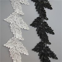 1 Yard Leaf Shape Lace Edge Ribbon Trim 10cm Larghezza Bianco Nero Applique Abito da cucito Craft Abbellimento Costume Party Decoration