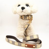 Pet Supplies New Style Pet Leather Collar Breakaway Pet Leas...