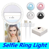 Производитель зарядки светодиодной вспышкой заливка красоты селфи лампы открытый селфи кольцо света перезаряжаемые камеры Фото для всех мобильных телефонов RK-12