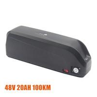 НОВЫЙ большой емкости 100Km электронных Велосипеды литий-ионный аккумулятор 48V 20AH для Ebike мотора 200W в 1KW с 3A Быстрая зарядка зарядное устройство