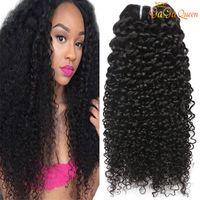 Peruviano estensioni dei capelli umani riccio crespo 3 fasci o 4 8-28inch Bundles peruviano indiano malesi ricci del Virgin dei capelli di colore naturale